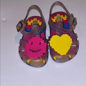 Mini Melissa jelly sandals size 5T